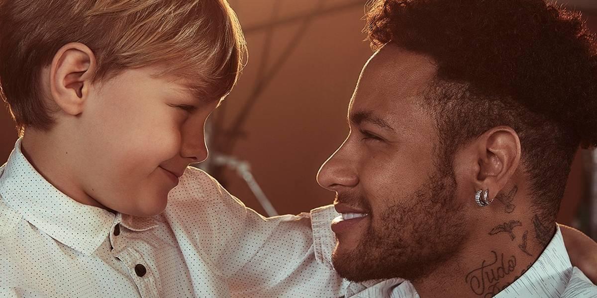 Neymar e Davi Lucca estrelam campanha de Dia dos Pais