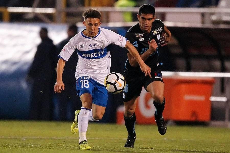 Buonanotte no tuvo un buen encuentro ante Iquique jugando como extremo, pese a convertir un gol / Foto: Photosport