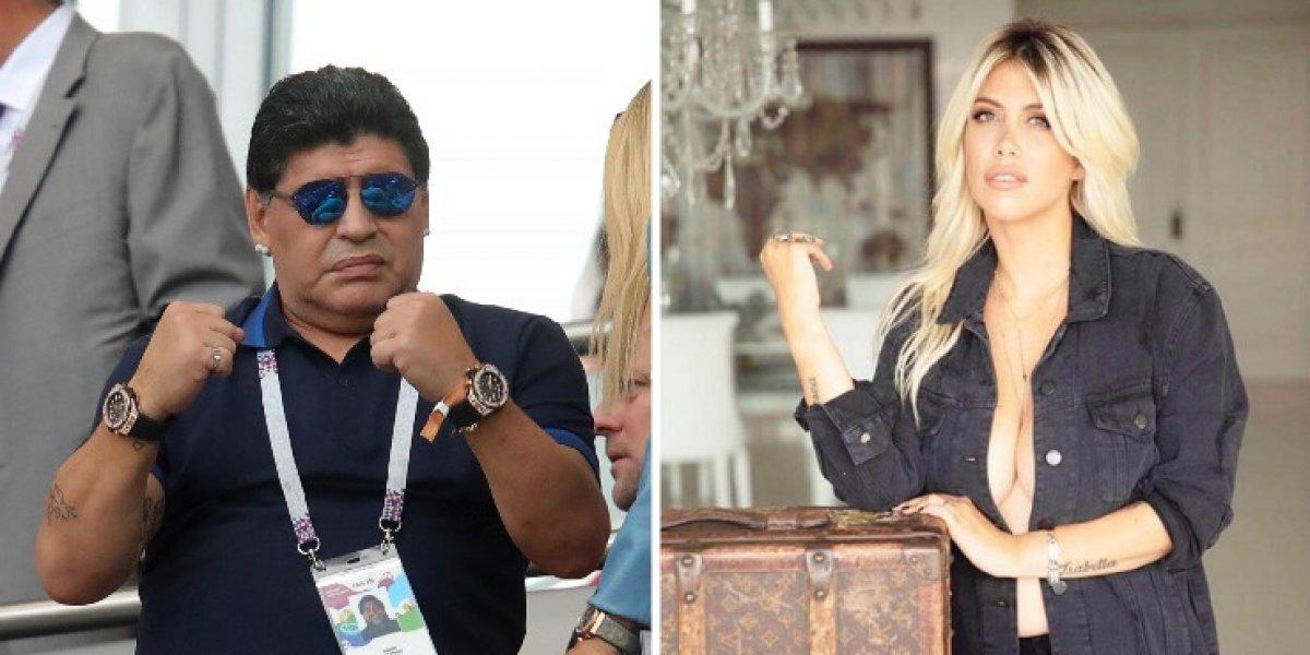 Revelan que Maradona tuvo un encuentro sexual con esposa de Icardi
