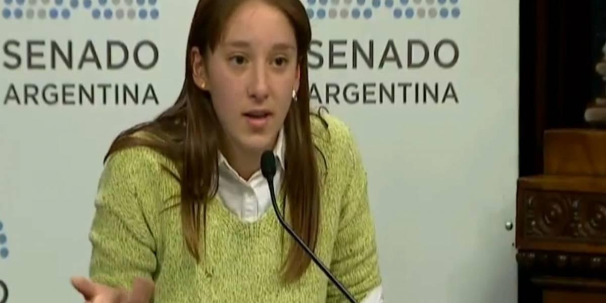 El poderoso discurso de una chica de 16 años sobre el aborto sacudió al Senado argentino
