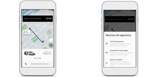 botão do pânico na Uber