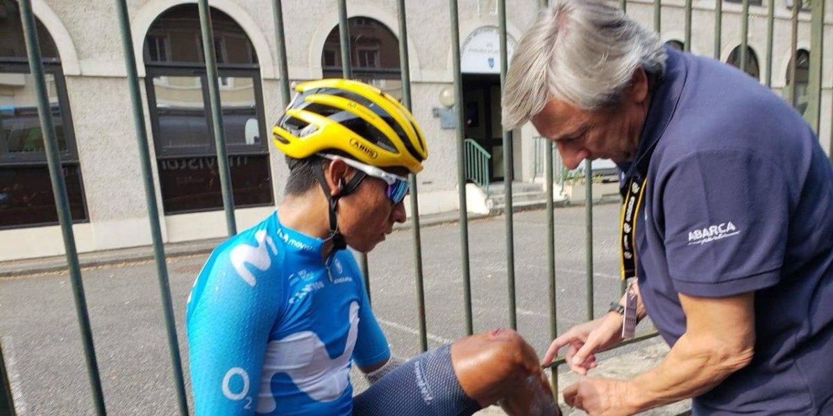 ¡Qué susto! Nairo Quintana por poco es arrollado en La Vuelta a España