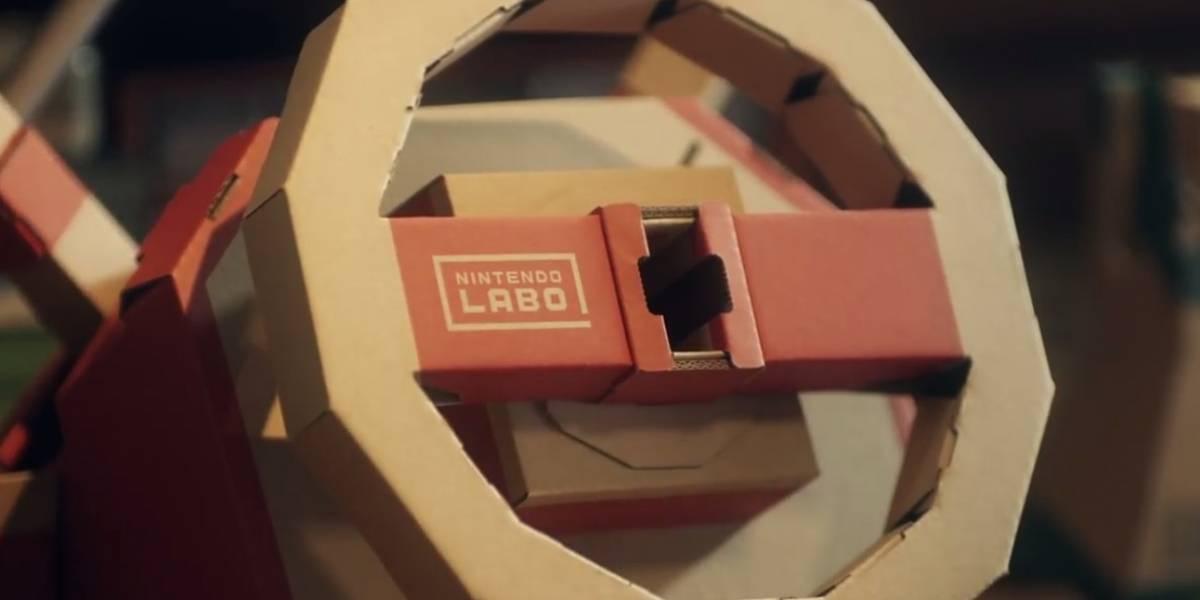 El nuevo kit de Nintendo Labo es como un cabina de arcade de carreras