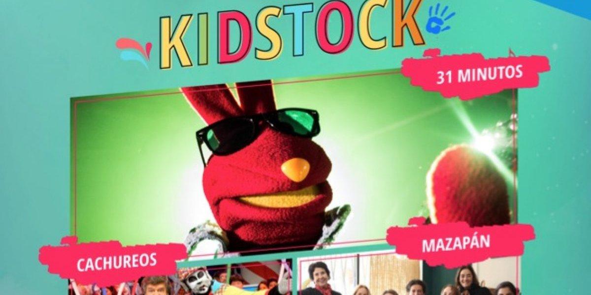 Festival Kidstock celebrará a los niños en su mes con Mazapán, Cachureos y 31 Minutos