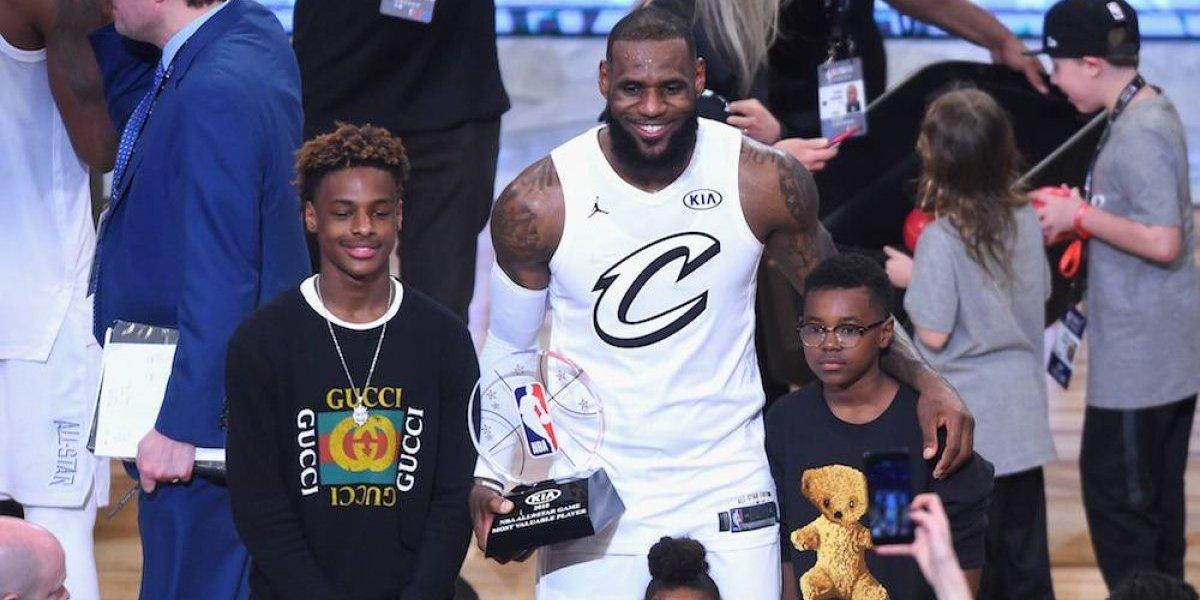 LeBron James está arrepentido de haberle puesto el mismo nombre a su hijo