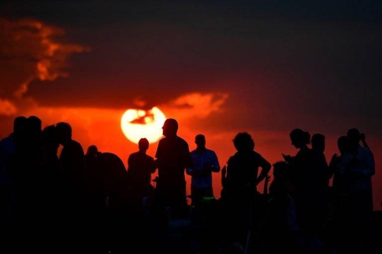 Luna de sangre en Alemania Foto: AFP