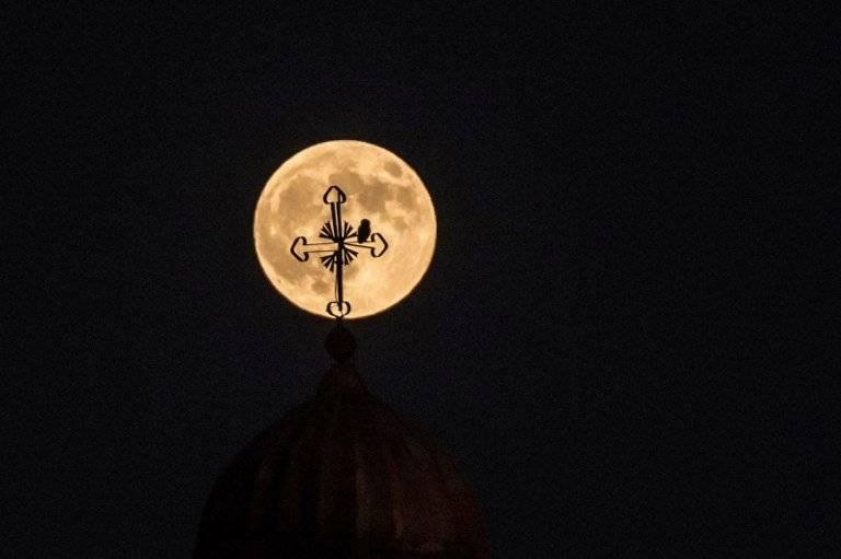 Luna de Sangre en Turquía Foto: AFP
