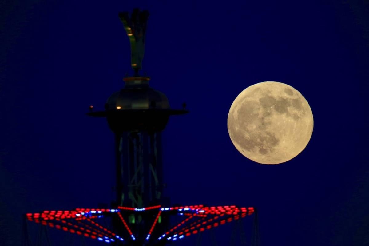 Luna de sangre en Israel Foto: AP
