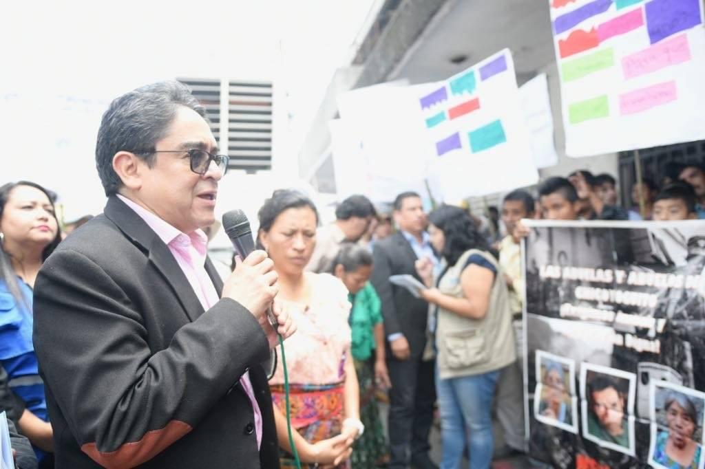 manifestación de pobladores de la comunidad Chicoyoguito, Alta Verapaz