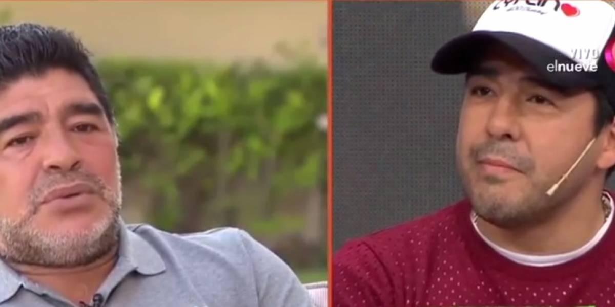 VIDEO: Maradona llama 'ratero y cagón' a su sobrino en pleno programa
