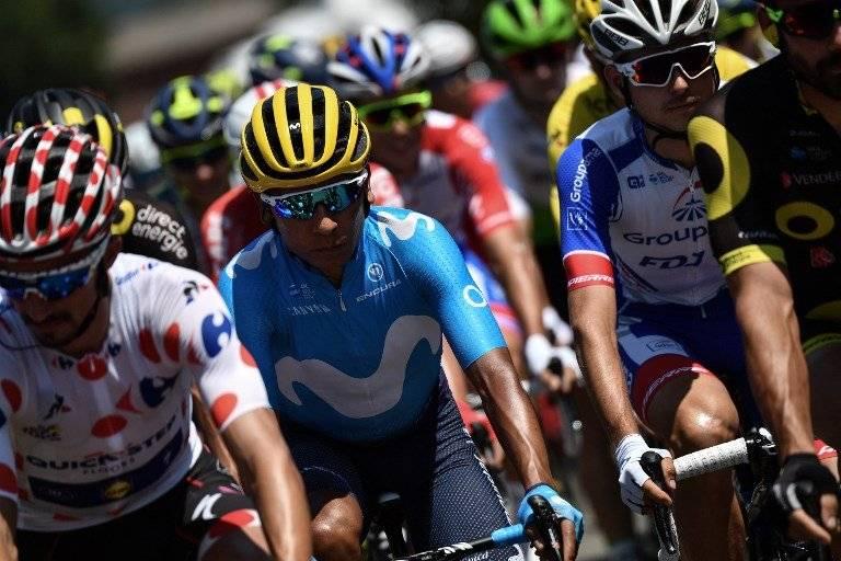 Quintana durante la etapa 19 del Tour