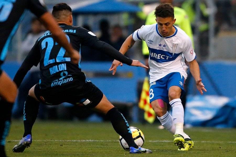 Diego Buonanotte una vez más jugará como puntero izquierdo en la UC / Foto: Photosport
