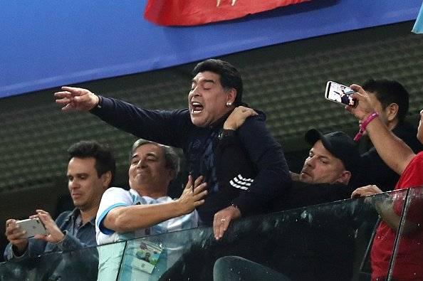 Getty Diego Armando Maradona arremetió contra su sobrino durante un programa televisivo argentino.