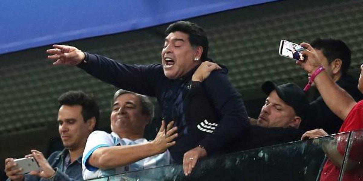 Maradona llama 'ladrón' y 'drogadicto' a su sobrino en un programa de televisión