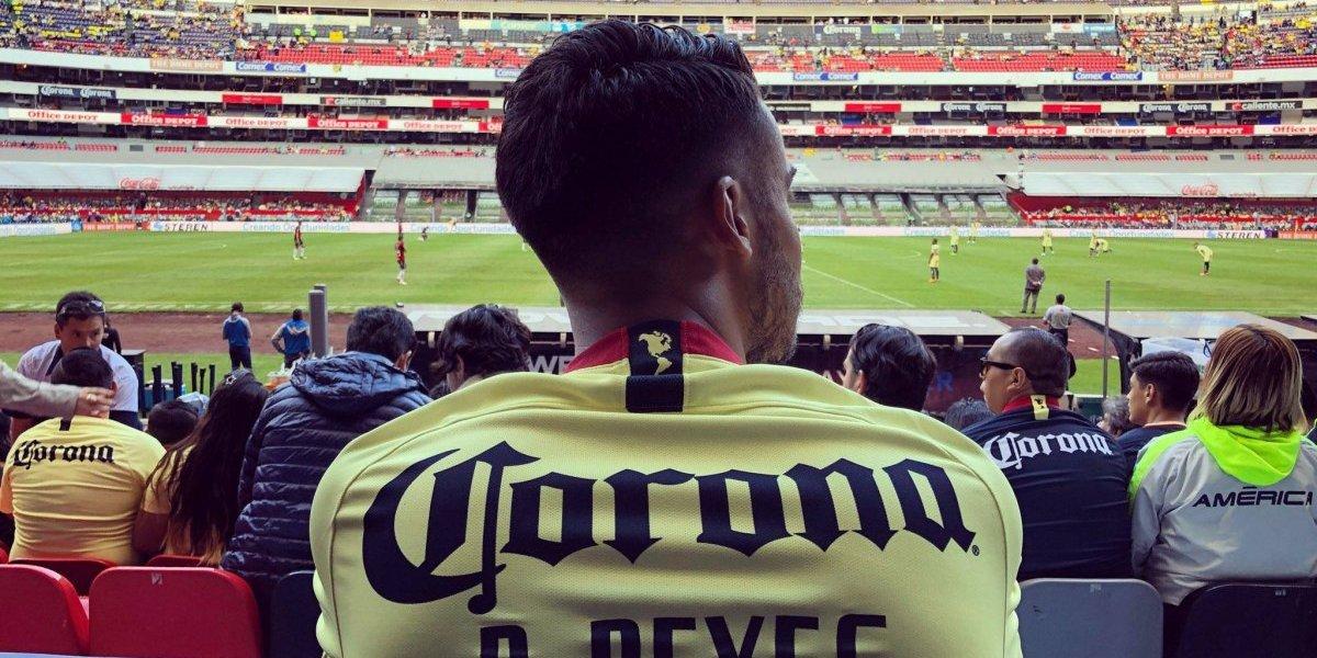 Diego Reyes estuvo presente en el estadio Azteca para el América vs Atlas