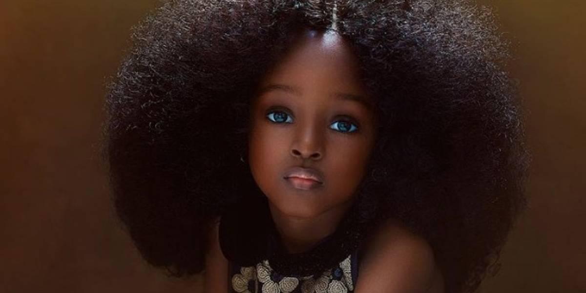 ¡Espléndida! Aseguran que la niña más bella del mundo está en Nigeria