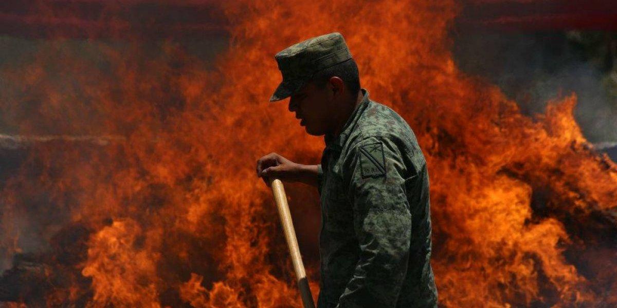 La PGR incinera toneladas de drogas en cuatro acciones