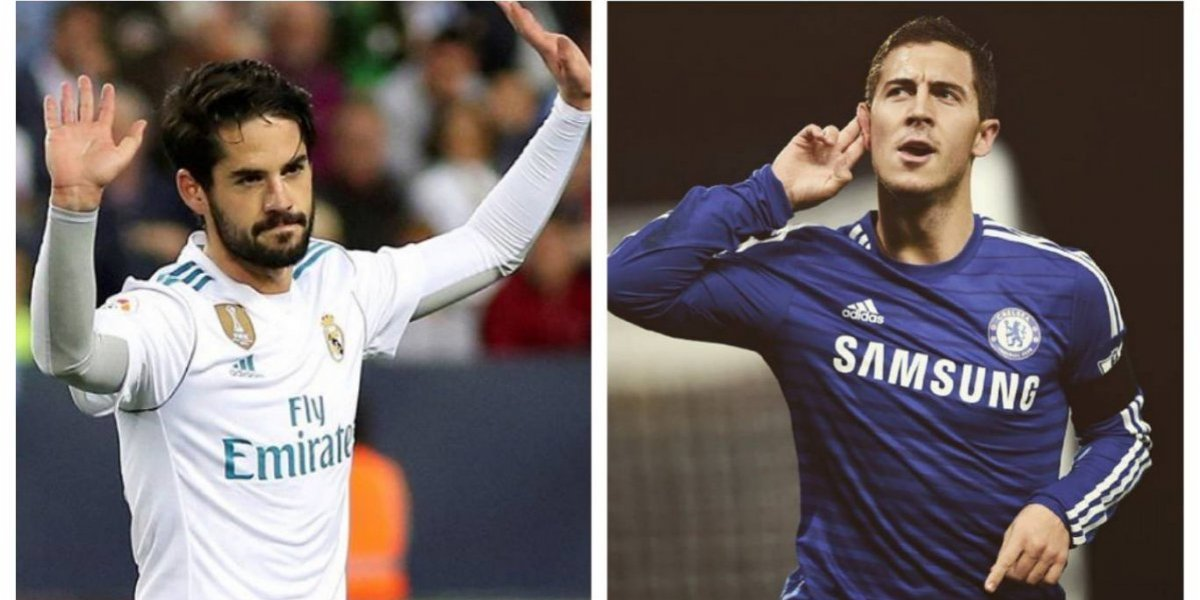 Aseguran que Isco le ha ganado la partida a Eden Hazard en el Real Madrid
