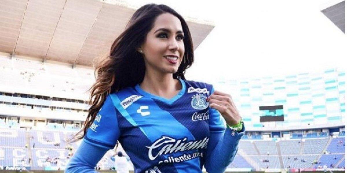 Ella es Ana Laura Gallardo, bella aficionada del Club Puebla