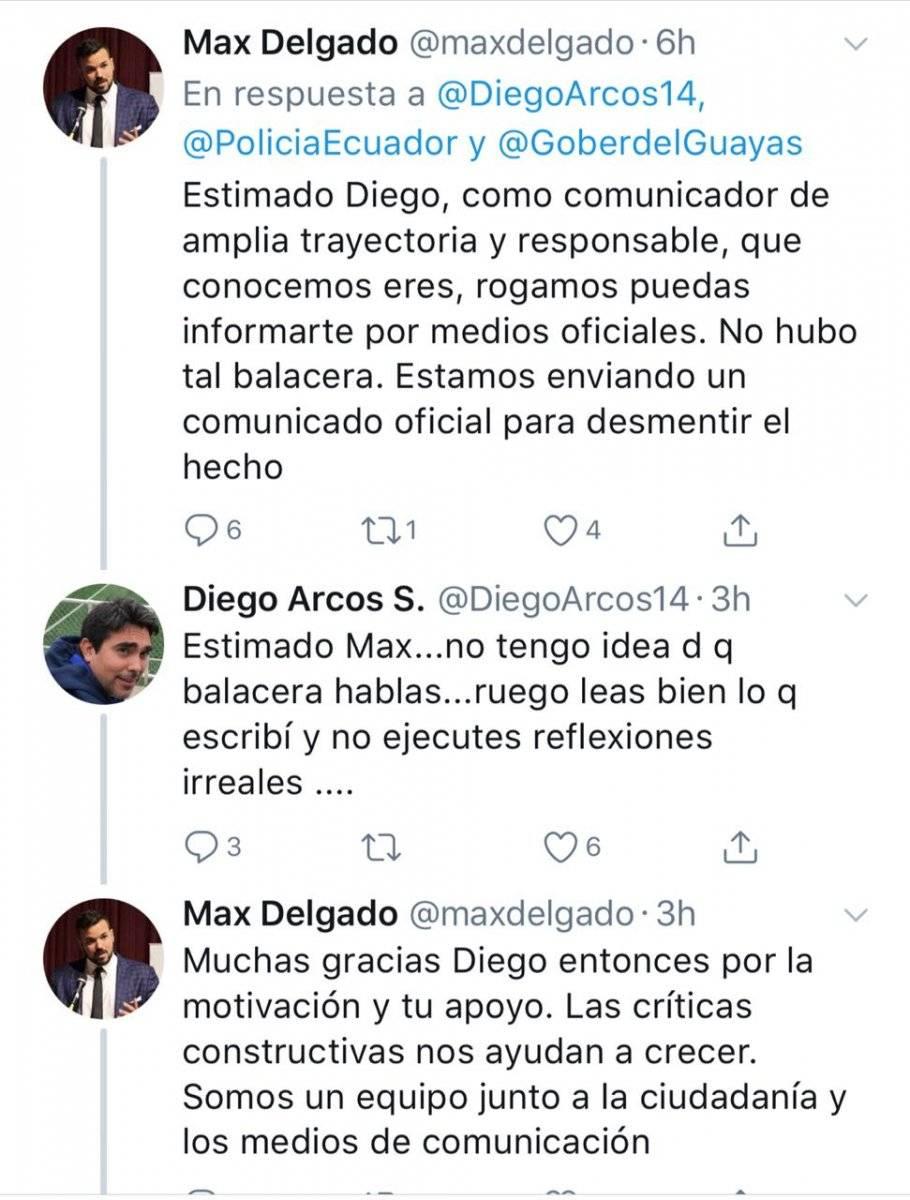 Captura Respuesta a Diego Arcos
