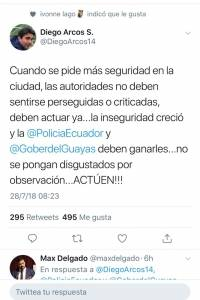 Mensaje de Diego Arcos