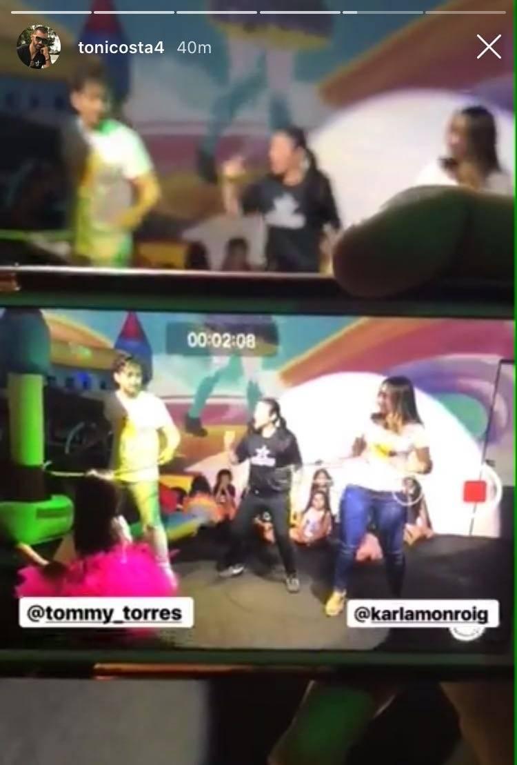 Karla Monroig y Tommy Torres. Instagram