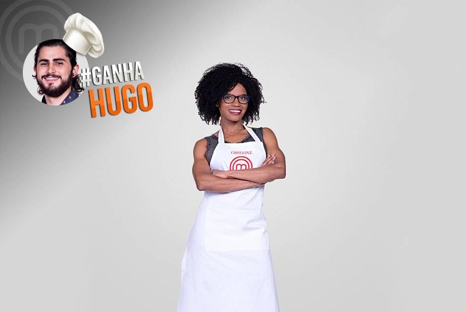 Crisleine Cardoso disse que torce para Hugo vencer o programa Carlos Reinis/Band