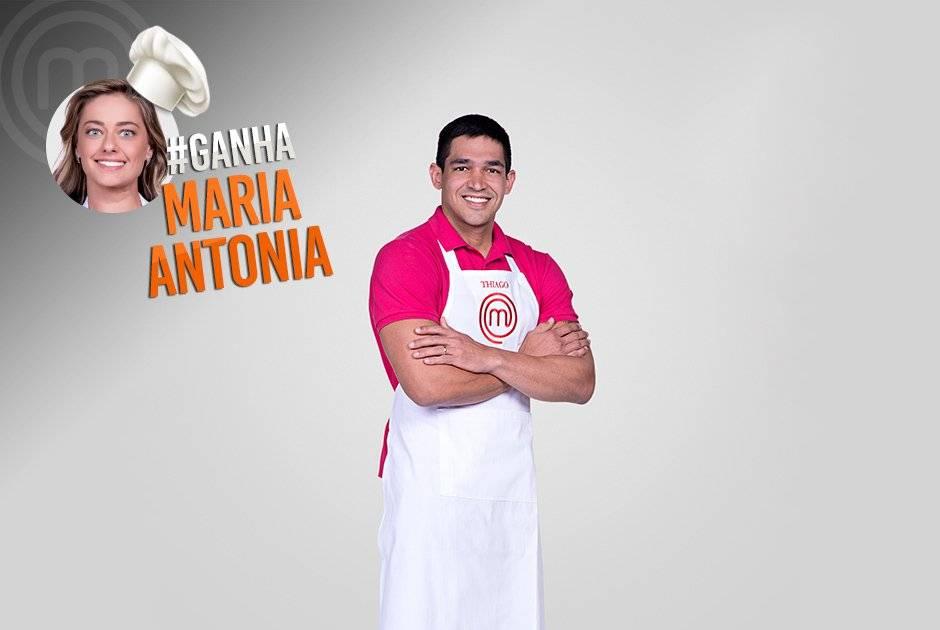 Já Thiago Gatto está torcendo por Maria Antonia Carlos Reinis/Band