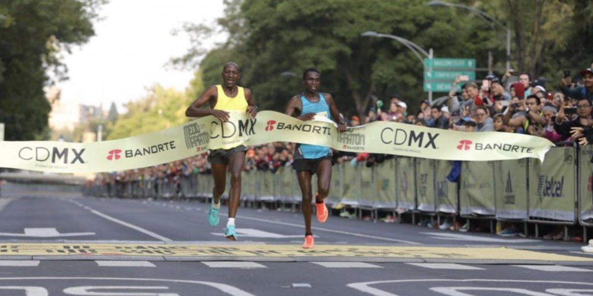 Africanos lideran el Medio Maratón de la CDMX