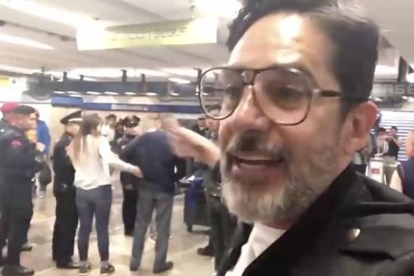 Ladrón de celulares agrede integrante de Los Supercívicos tras grabar su detención en el Metro