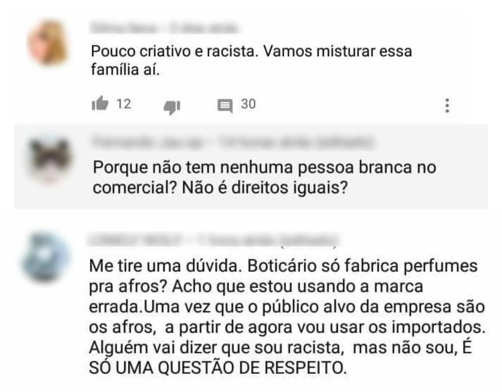O Boticário - Comentários racistas