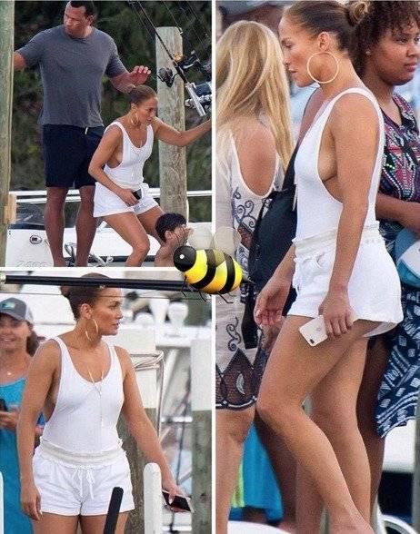 Jennifer Lopez enloquece por su vestido de baño blanco