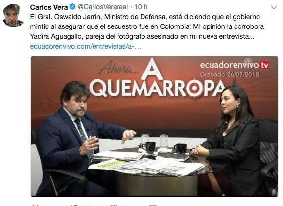 Yadira Aguagallo, pareja de Paúl Rivas, habla sobre documentos desclasificados sobre secuestro