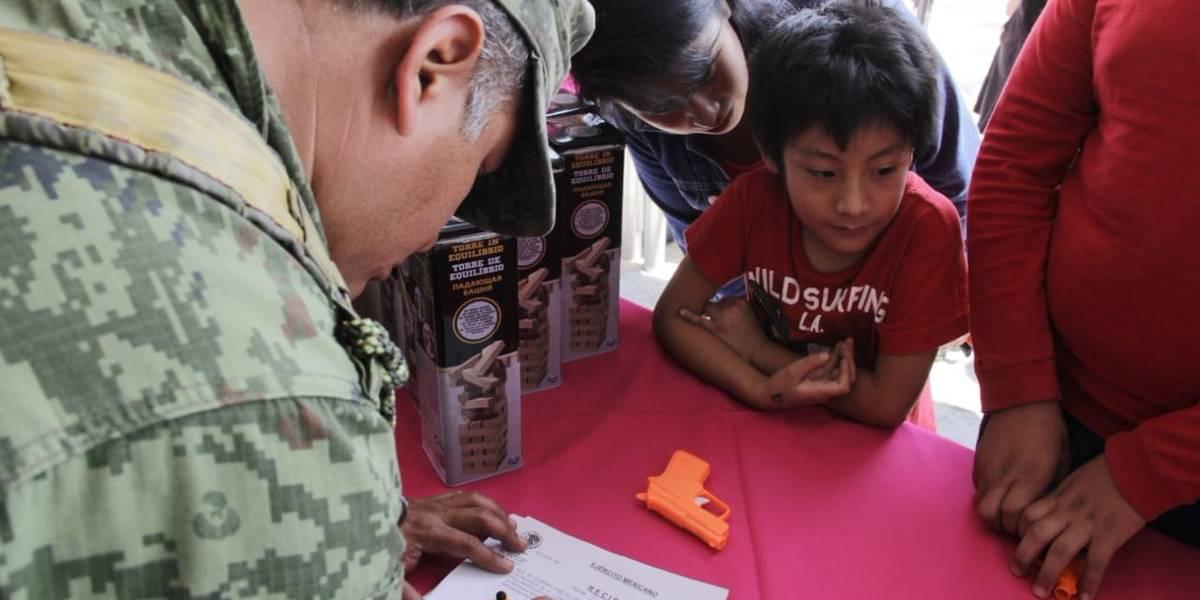 Reanudan desarme voluntario en la CDMX
