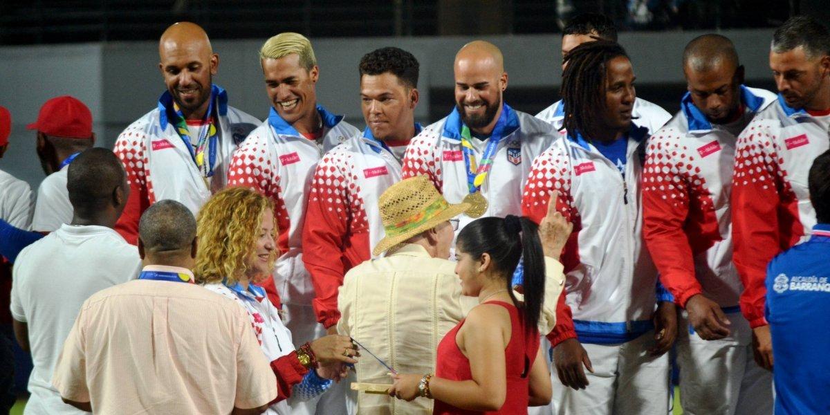 Equipo nacional de béisbol recibe su medalla de oro en Barranquilla 2018