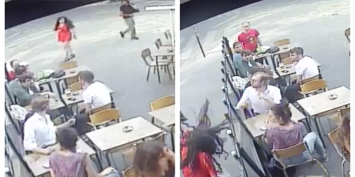 """""""No podemos quedarnos calladas"""": joven sufre brutal agresión en París tras increpar al sujeto que la acosó en la calle"""