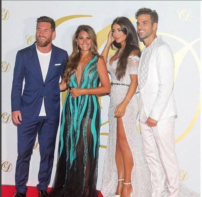 Antonella Roccuzzo fue el alma de la fiesta en la boda de Cesc Fábregas Instagram