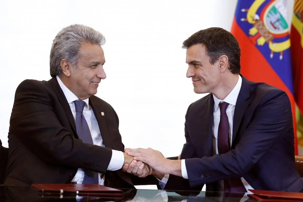 Pedro Sánchez, recibe al presidente de Ecuador, Lenín Moreno EFE