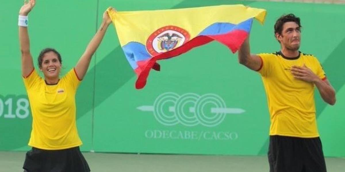 Con una barranquillera, Colombia ganó el oro en dobles mixto de tenis en Centroamericanos