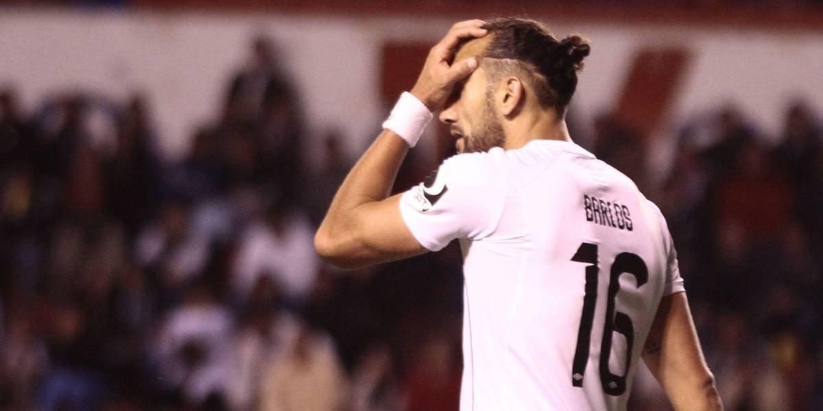 Hernán Barcos falló un penal en la derrota de su equipo el Cruzeiro