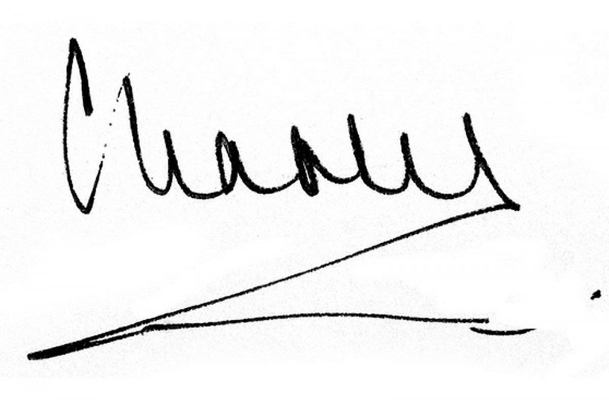 Firma príncipe Carlos