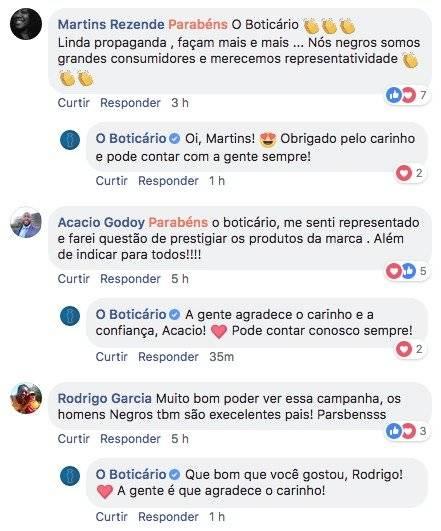 O Boticário - Elogios facebook