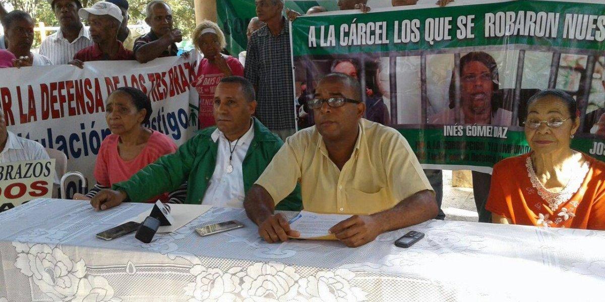Moradores de Los Tres Brazos exigen medidas contra imputados por venta de terrenos