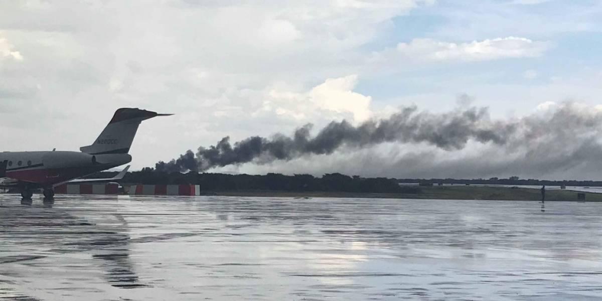 Acidente aéreo: Avião cai em aeroporto no México