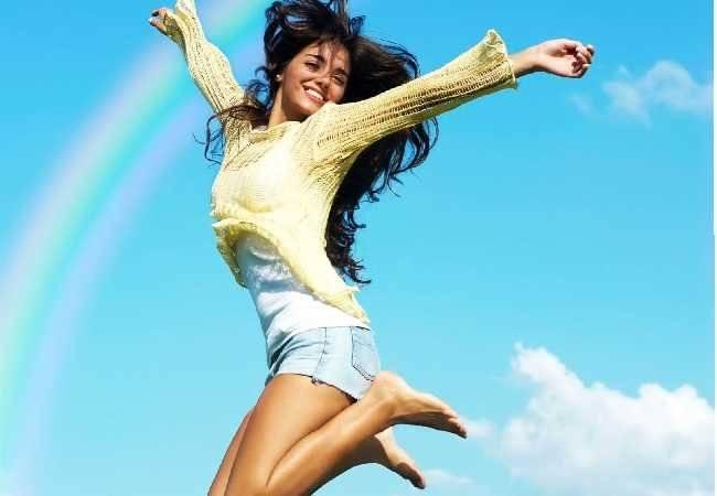 mujer más alegres