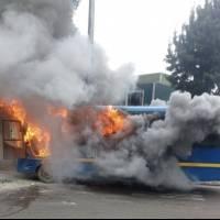 Incendio de bus del Sitp