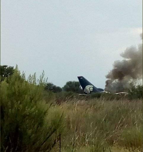 Se reporta avión de aeroméxico caído