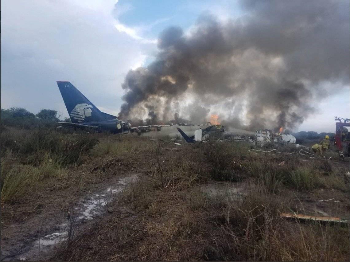 Reportan desplome de avión de Aeroméxico en el aeropuerto de Durango CORTESÍA