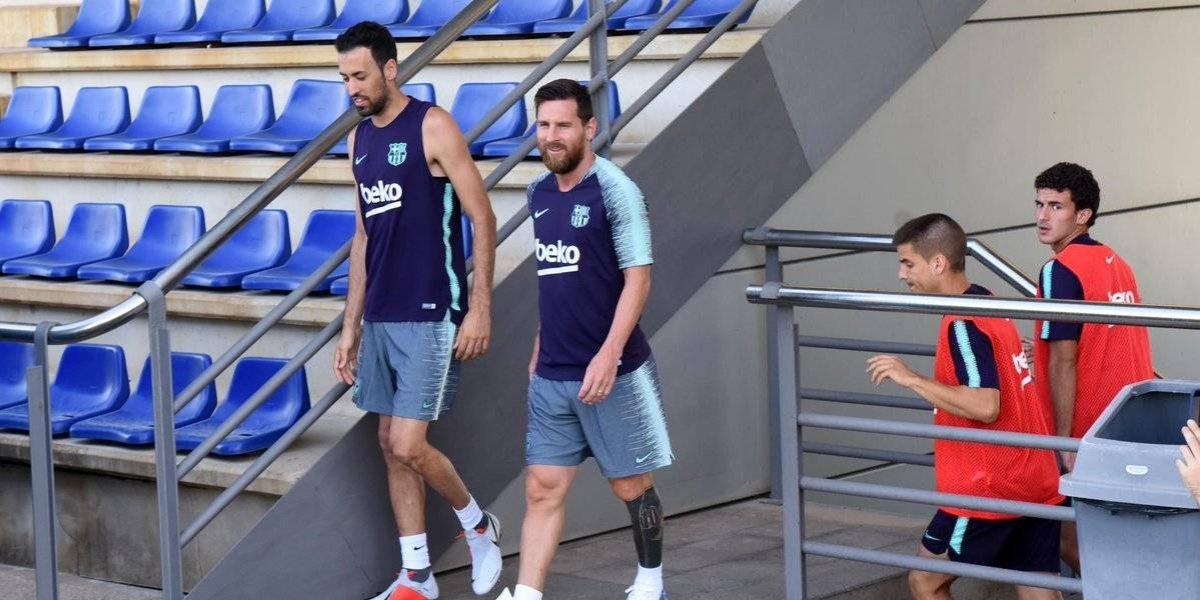 Messi, Piqué, Busquets y Alba, dicen presente en Barcelona