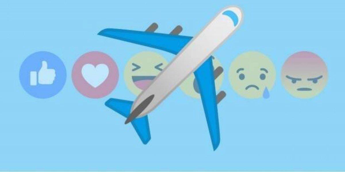 ¿Por qué salió reacción de un avión en Facebook?